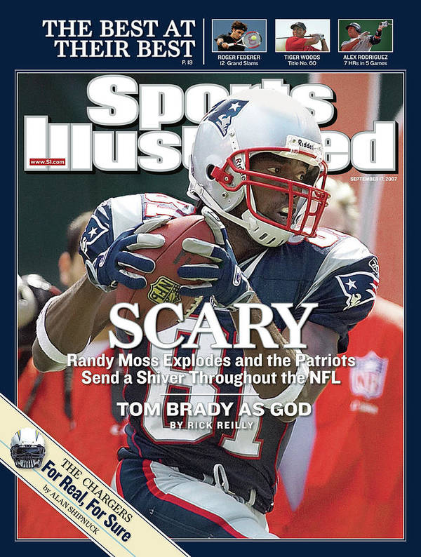 Magazine Cover Art Print featuring the photograph New England Patriots Randy Moss Sports Illustrated Cover by Sports Illustrated