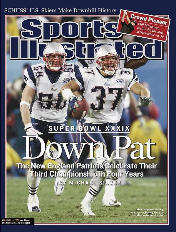 New England Patriots Art Print featuring the photograph New England Patriots Rodney Harrison And Mike Vrabel, Super Sports Illustrated Cover by Sports Illustrated