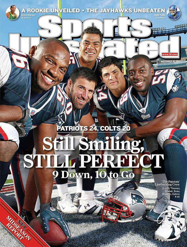 Magazine Cover Art Print featuring the photograph New Enlgand Patriots Linebackers Sports Illustrated Cover by Sports Illustrated