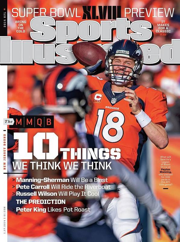 Magazine Cover Art Print featuring the photograph New Jersey Bound Super Bowl Xlviii Preview Issue Sports Illustrated Cover by Sports Illustrated