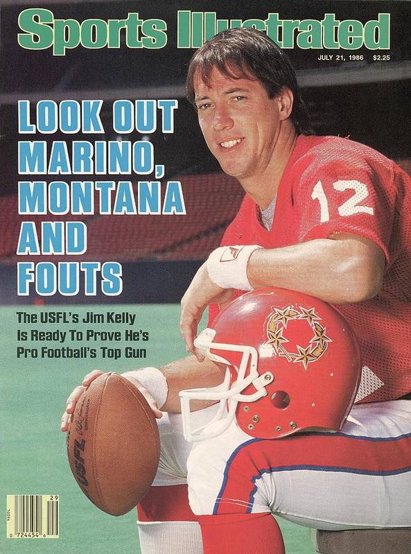 1980-1989 Art Print featuring the photograph New Jersey Generals Qb Jim Kelly Sports Illustrated Cover by Sports Illustrated