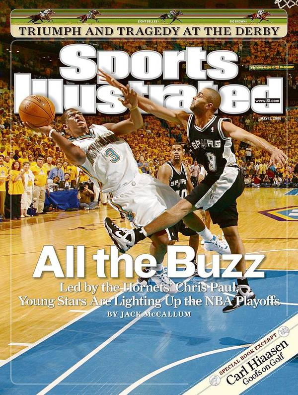 Magazine Cover Art Print featuring the photograph New Orleans Hornets Chris Paul, 2008 Nba Western Conference Sports Illustrated Cover by Sports Illustrated
