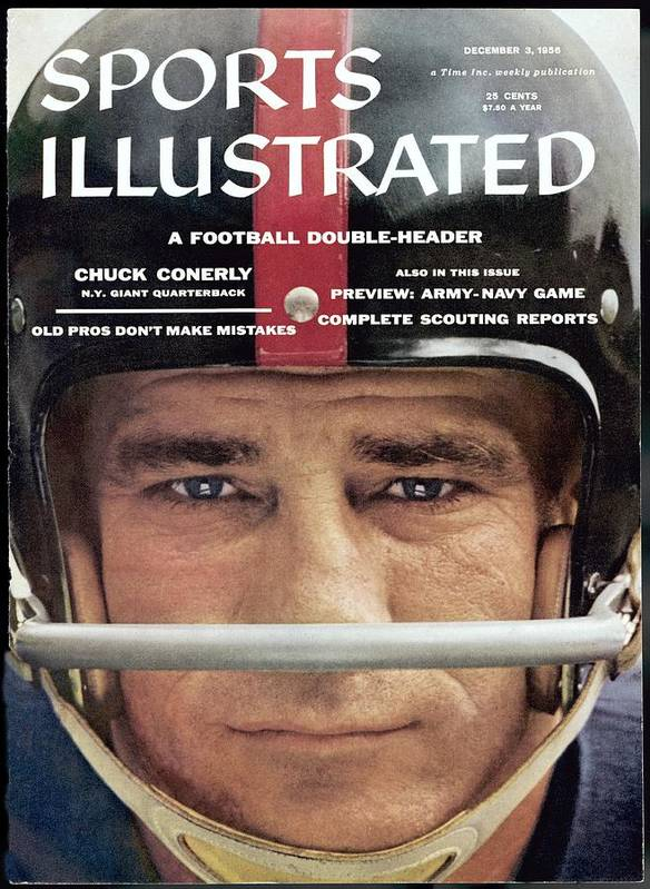 Magazine Cover Art Print featuring the photograph New York Giants Chuck Conerly Sports Illustrated Cover by Sports Illustrated