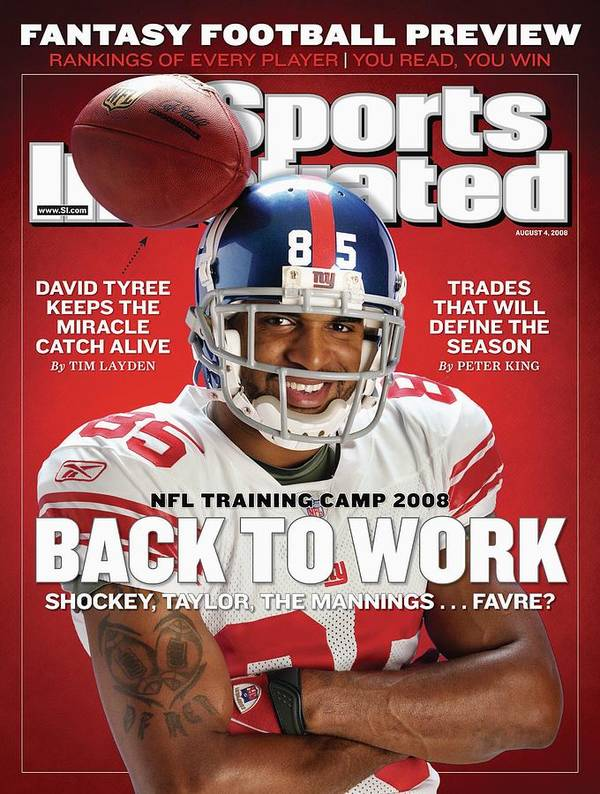 Magazine Cover Art Print featuring the photograph New York Giants David Tyree Sports Illustrated Cover by Sports Illustrated