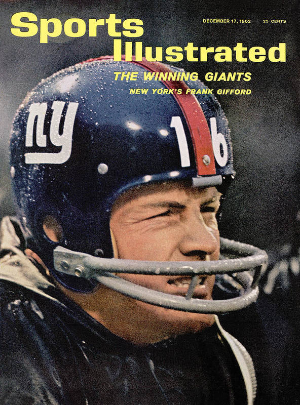Magazine Cover Art Print featuring the photograph New York Giants Frank Gifford Sports Illustrated Cover by Sports Illustrated