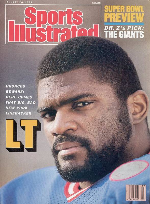 Magazine Cover Art Print featuring the photograph New York Giants Lawrence Taylor Sports Illustrated Cover by Sports Illustrated