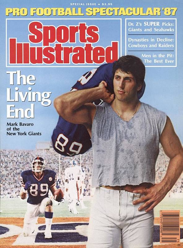 Magazine Cover Art Print featuring the photograph New York Giants Mark Bavaro, 1987 Pro Football Spectacular Sports Illustrated Cover by Sports Illustrated