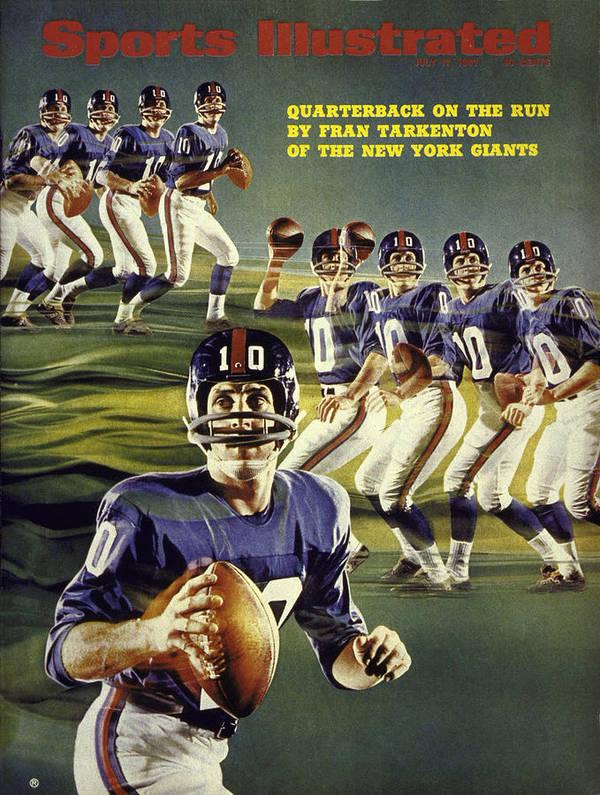 Magazine Cover Art Print featuring the photograph New York Giants Qb Fran Tarkenton Sports Illustrated Cover by Sports Illustrated