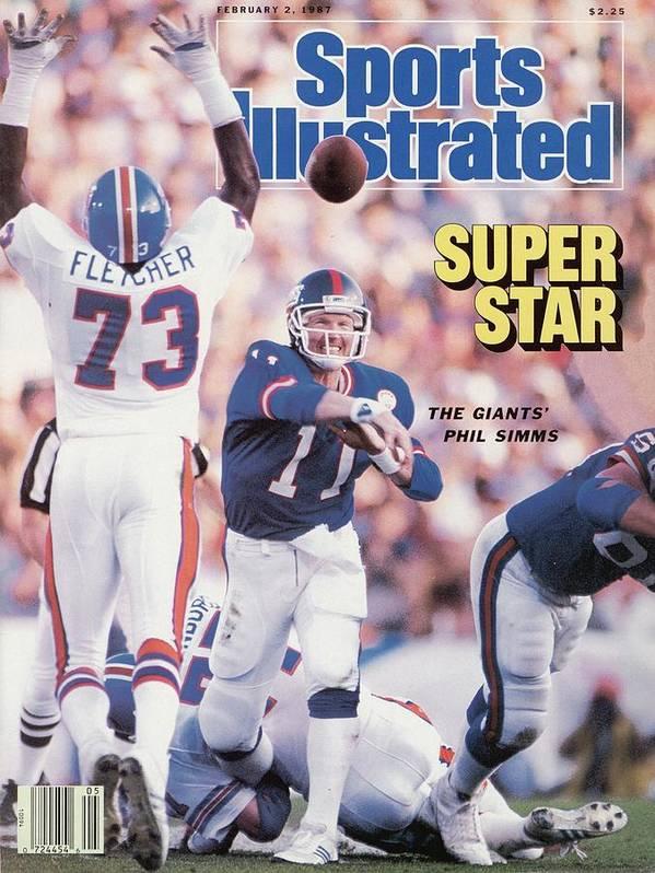 Magazine Cover Art Print featuring the photograph New York Giants Qb Phil Simms, Super Bowl Xxi Sports Illustrated Cover by Sports Illustrated