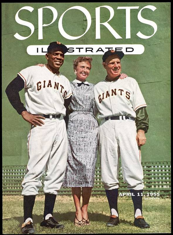 Magazine Cover Art Print featuring the photograph New York Giants Willie Mays, Loraine Day Durocher And Sports Illustrated Cover by Sports Illustrated