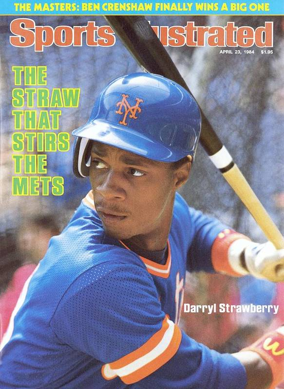 Magazine Cover Art Print featuring the photograph New York Mets Darryl Strawberry Sports Illustrated Cover by Sports Illustrated