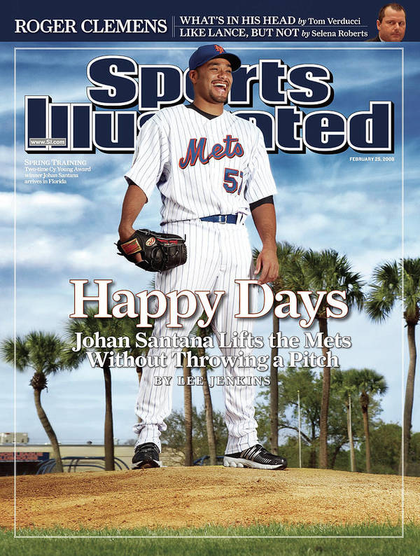 Magazine Cover Art Print featuring the photograph New York Mets Johan Santana Sports Illustrated Cover by Sports Illustrated