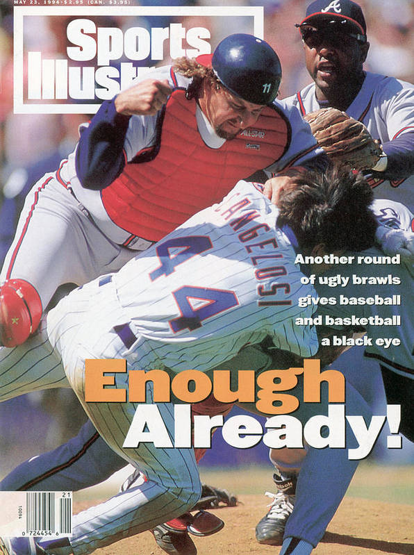 Magazine Cover Art Print featuring the photograph New York Mets John Cangelosi... Sports Illustrated Cover by Sports Illustrated