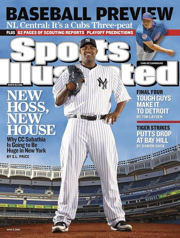 Magazine Cover Art Print featuring the photograph New York Yankees Cc Sabathia Sports Illustrated Cover by Sports Illustrated
