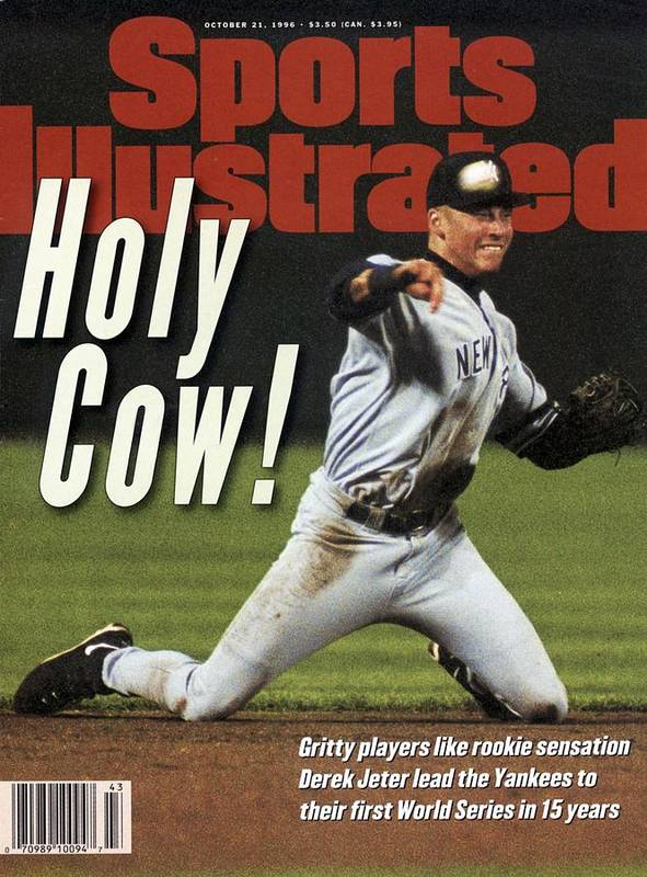 Magazine Cover Art Print featuring the photograph New York Yankees Derek Jeter, 1996 Al Championship Series Sports Illustrated Cover by Sports Illustrated