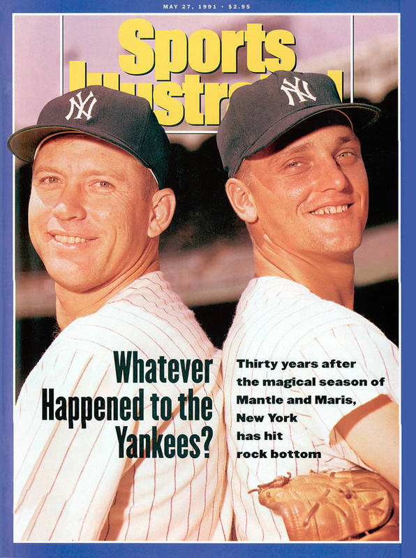 Magazine Cover Art Print featuring the photograph New York Yankees Mickey Mantle And Roger Maris Sports Illustrated Cover by Sports Illustrated