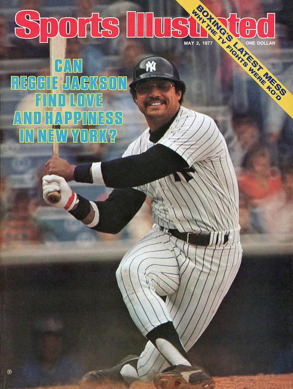 Magazine Cover Art Print featuring the photograph New York Yankees Reggie Jackson... Sports Illustrated Cover by Sports Illustrated