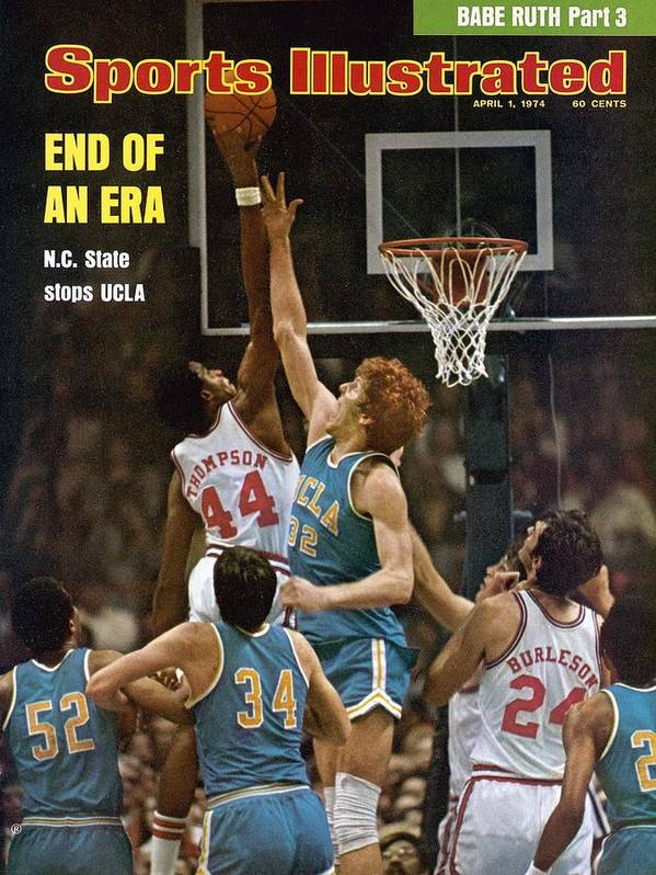David Thompson Art Print featuring the photograph North Carolina State David Thompson, 1974 Ncaa Semifinals Sports Illustrated Cover by Sports Illustrated