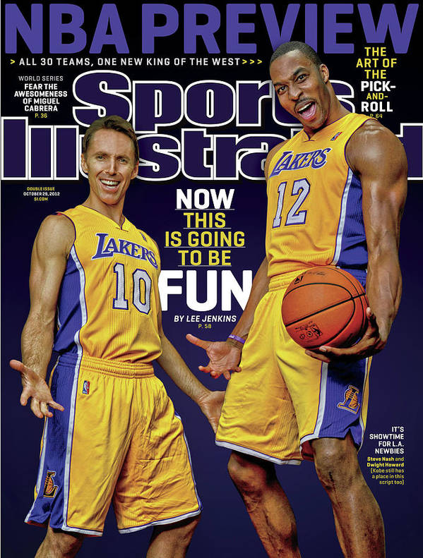 Point Guard Art Print featuring the photograph Now This Is Going To Be Fun 2012-13 Nba Basketball Preview Sports Illustrated Cover by Sports Illustrated