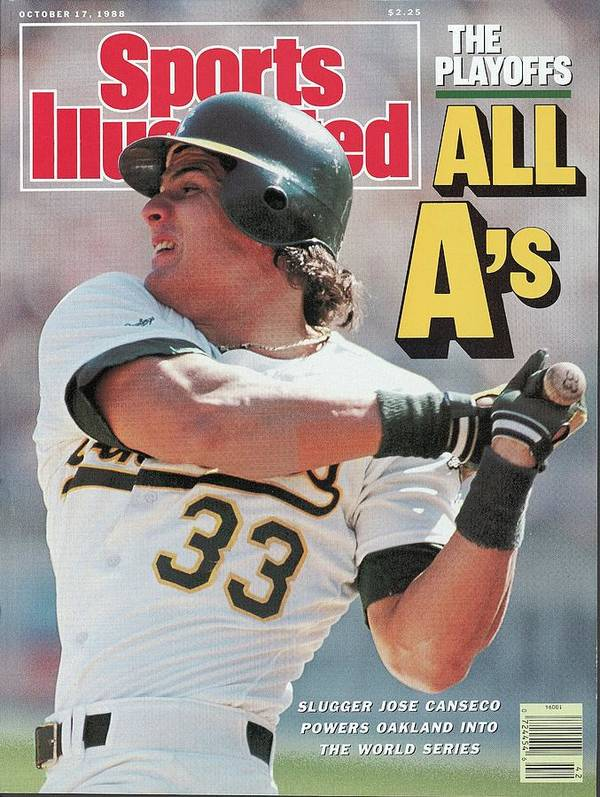 Playoffs Art Print featuring the photograph Oakland Athletics Jose Canseco, 1988 Al Championship Series Sports Illustrated Cover by Sports Illustrated