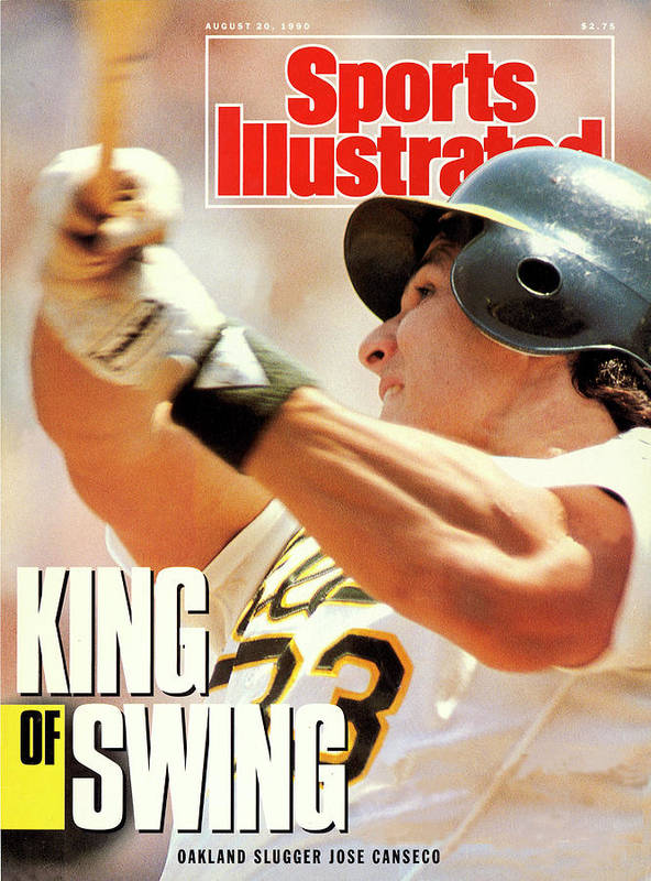 Magazine Cover Art Print featuring the photograph Oakland Athletics Jose Canseco Sports Illustrated Cover by Sports Illustrated