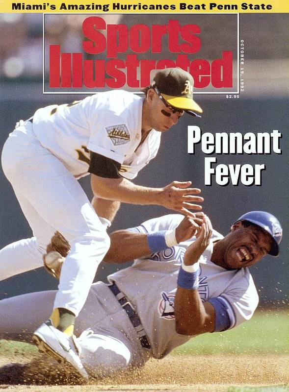 Playoffs Art Print featuring the photograph Oakland Athletics Walt Weiss, 1992 Al Championship Series Sports Illustrated Cover by Sports Illustrated
