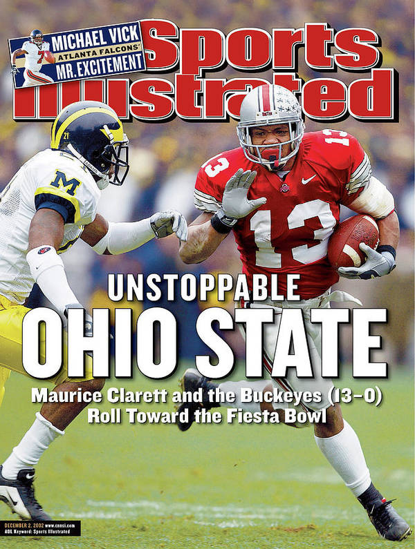 Sports Illustrated Art Print featuring the photograph Ohio State University Maurice Clarett Sports Illustrated Cover by Sports Illustrated