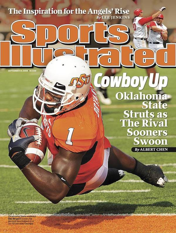 Magazine Cover Art Print featuring the photograph Oklahoma State University Dez Bryant Sports Illustrated Cover by Sports Illustrated