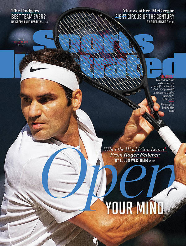 Tennis Art Print featuring the photograph Open Your Mind What The World Can Learn From Roger Federer Sports Illustrated Cover by Sports Illustrated