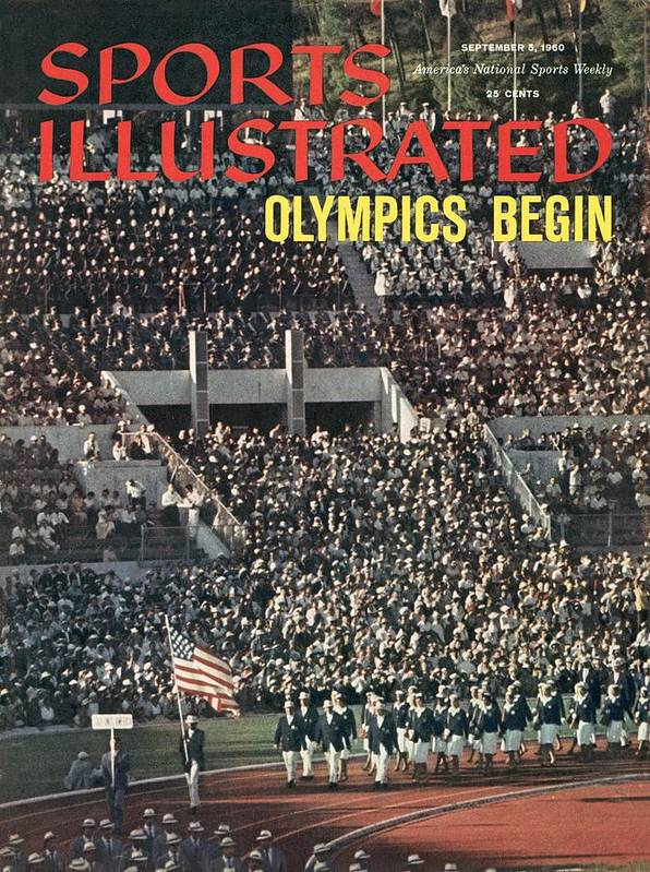Magazine Cover Art Print featuring the photograph Opening Ceremony, 1960 Summer Olympics Sports Illustrated Cover by Sports Illustrated