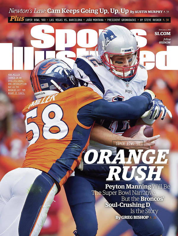 Magazine Cover Art Print featuring the photograph Orange Crush Peyton Manning Will Be The Super Bowl Sports Illustrated Cover by Sports Illustrated