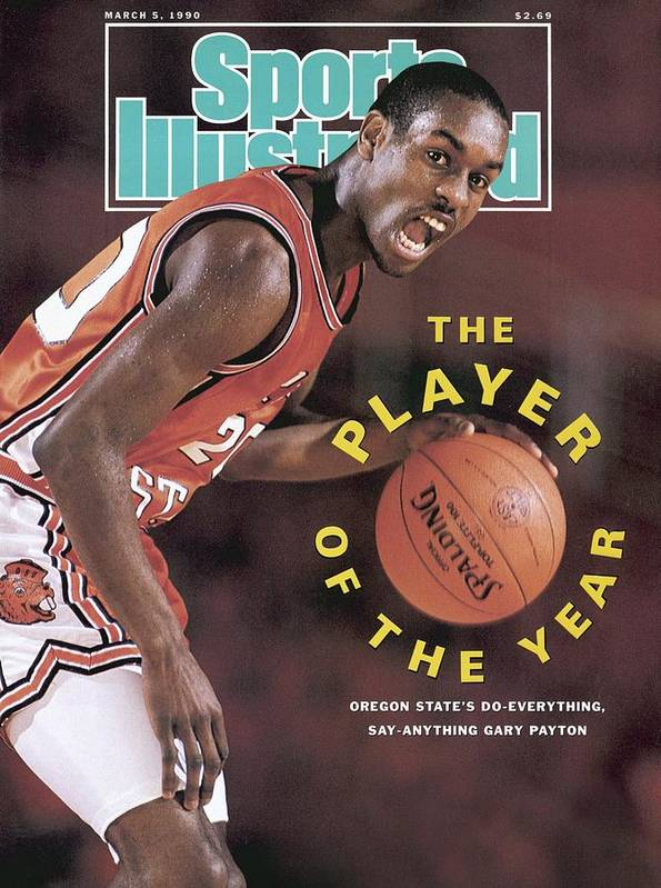 Magazine Cover Art Print featuring the photograph Oregon State Gary Payton Sports Illustrated Cover by Sports Illustrated