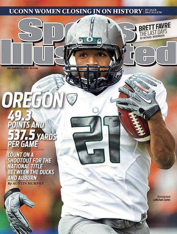 Magazine Cover Art Print featuring the photograph Oregon State University Vs University Of Oregon Sports Illustrated Cover by Sports Illustrated