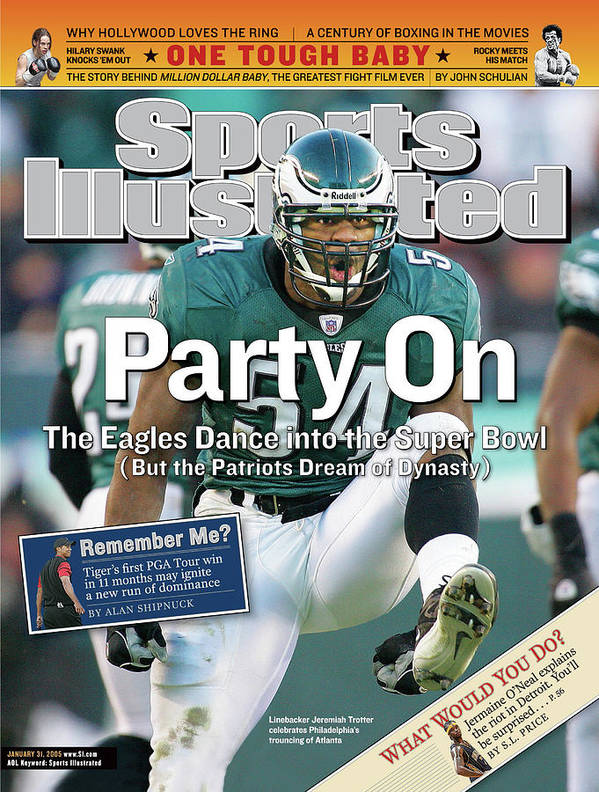 Magazine Cover Art Print featuring the photograph Party On The Eagles Dance Into The Super Bowl But The Sports Illustrated Cover by Sports Illustrated