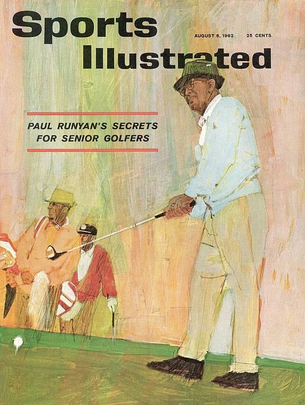 Magazine Cover Art Print featuring the photograph Paul Runyans Secrets For Senior Golfers Sports Illustrated Cover by Sports Illustrated