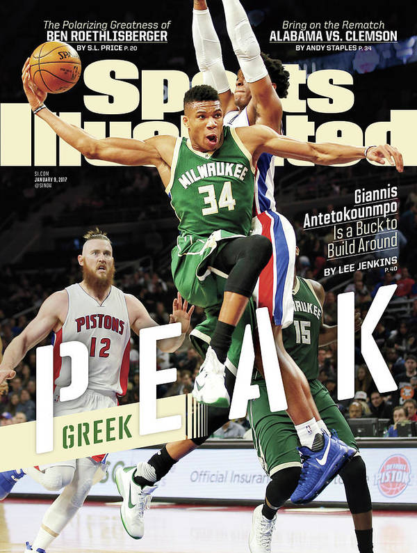 Magazine Cover Art Print featuring the photograph Peak Greek Giannis Antetokounmpo Is A Buck To Build Around Sports Illustrated Cover by Sports Illustrated