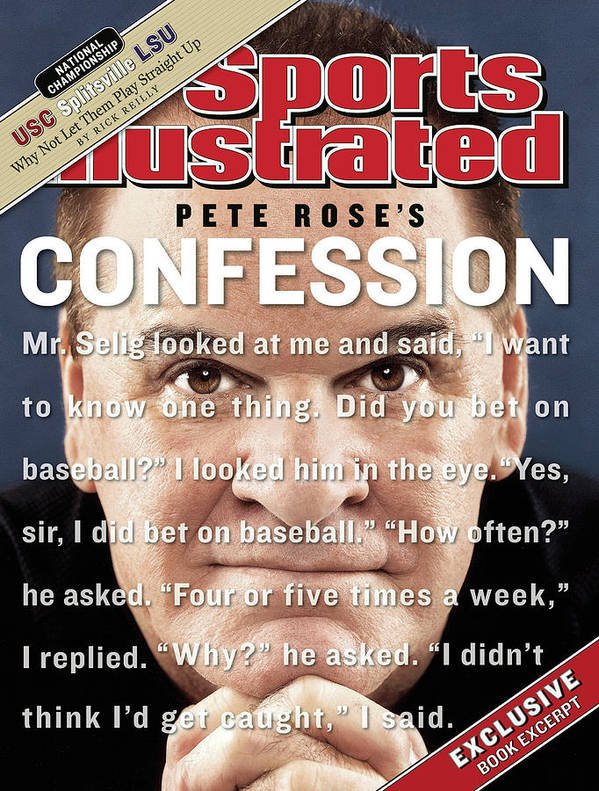 Magazine Cover Art Print featuring the photograph Pete Rose, Baseball Sports Illustrated Cover by Sports Illustrated