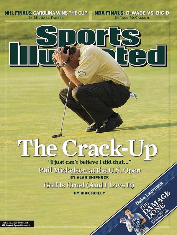 Magazine Cover Art Print featuring the photograph Phil Mickelson, 2006 Us Open Sports Illustrated Cover by Sports Illustrated