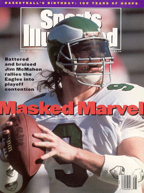 Arizona Cardinals Art Print featuring the photograph Philadelphia Eagles Qb Jim Mcmahon Sports Illustrated Cover by Sports Illustrated
