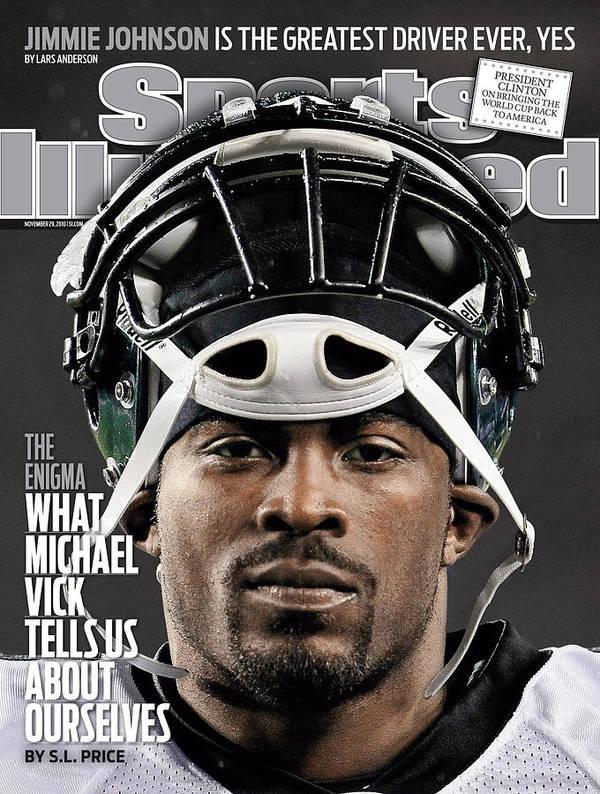 Sports Illustrated Art Print featuring the photograph Philadelphia Eagles Qb Michael Vick Sports Illustrated Cover by Sports Illustrated