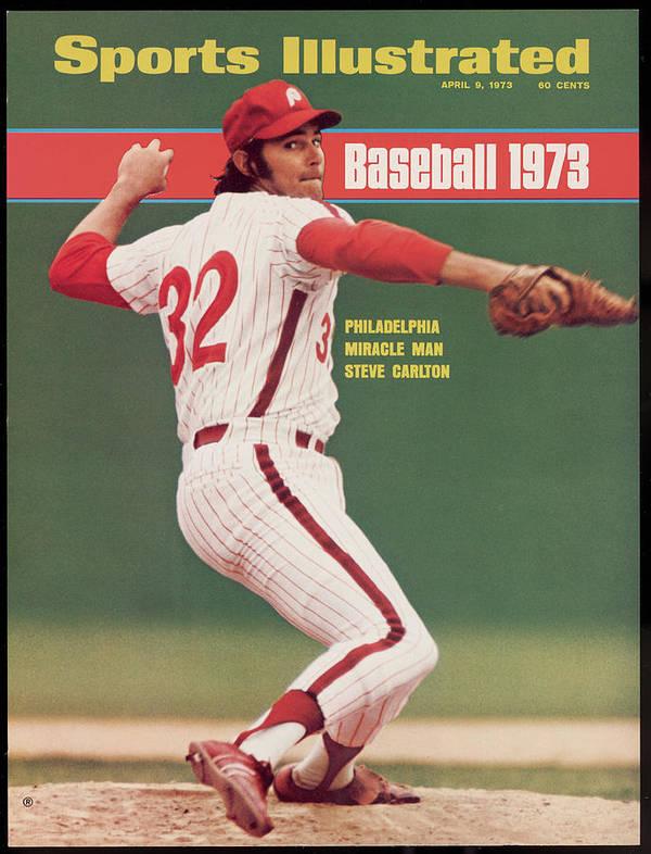 Magazine Cover Art Print featuring the photograph Philadelphia Phillies Steve Carlton... Sports Illustrated Cover by Sports Illustrated