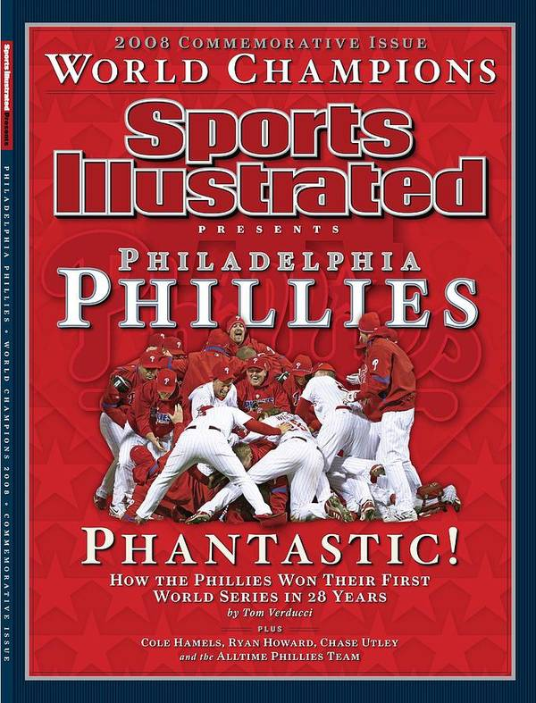 Magazine Cover Art Print featuring the photograph Philadelphia Phillies Vs Tampa Bay Rays, 2008 World Series Sports Illustrated Cover by Sports Illustrated