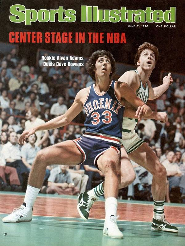 Magazine Cover Art Print featuring the photograph Phoenix Suns Alvan Adams, 1976 Nba Finals Sports Illustrated Cover by Sports Illustrated