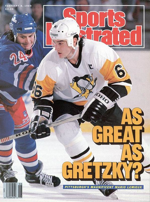 1980-1989 Art Print featuring the photograph Pittsburgh Penguins Mario Lemeiux... Sports Illustrated Cover by Sports Illustrated