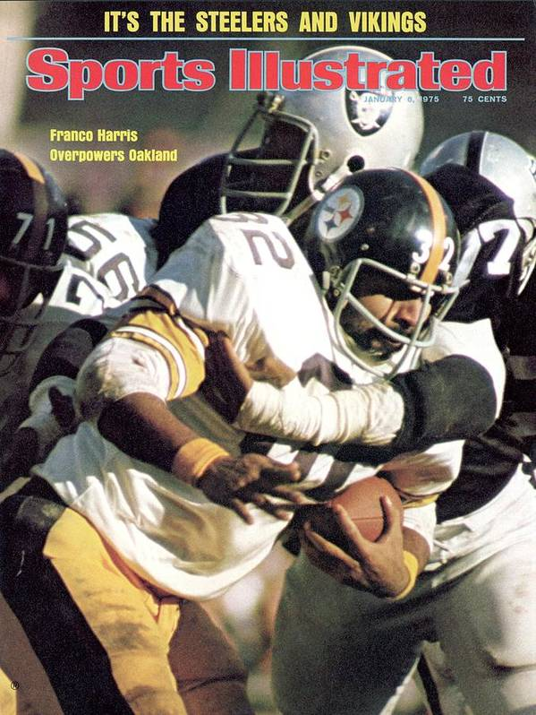 Magazine Cover Art Print featuring the photograph Pittsburgh Steelers Franco Harris, 1974 Afc Championship Sports Illustrated Cover by Sports Illustrated