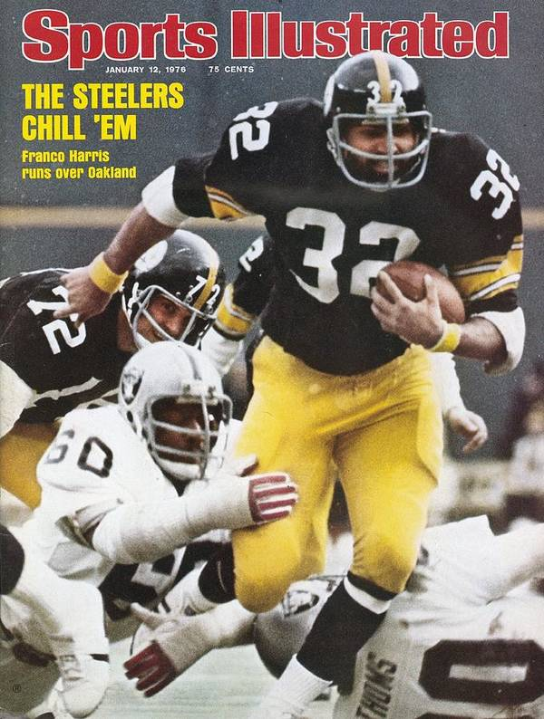 Magazine Cover Art Print featuring the photograph Pittsburgh Steelers Franco Harris, 1976 Afc Championship Sports Illustrated Cover by Sports Illustrated