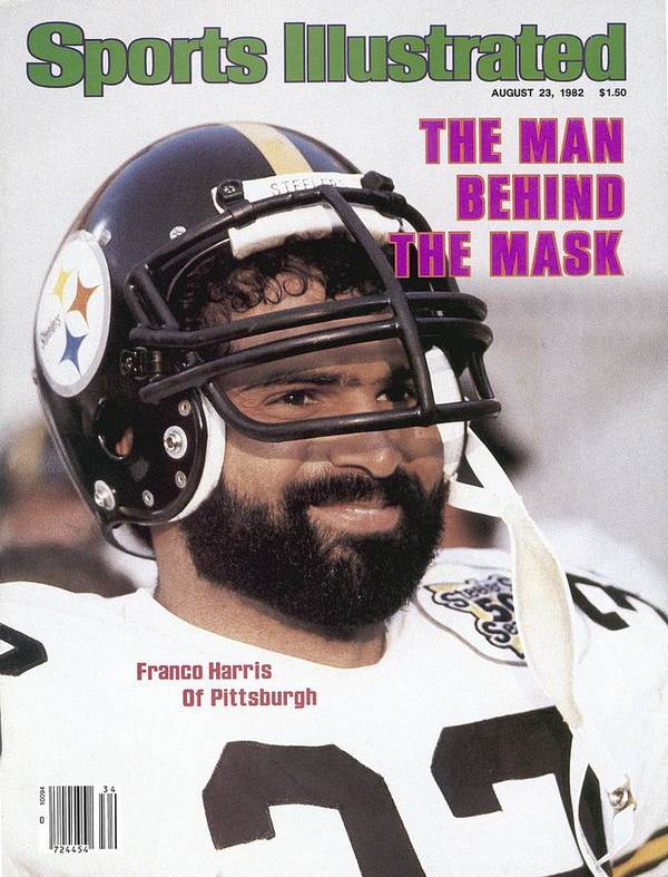 Magazine Cover Art Print featuring the photograph Pittsburgh Steelers Franco Harris Sports Illustrated Cover by Sports Illustrated