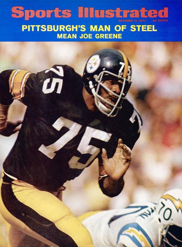 Sports Illustrated Art Print featuring the photograph Pittsburgh Steelers Joe Greene... Sports Illustrated Cover by Sports Illustrated