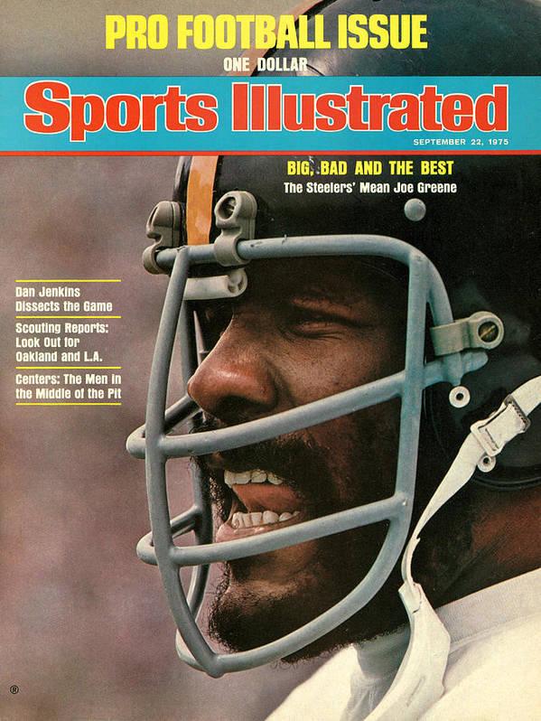 Magazine Cover Art Print featuring the photograph Pittsburgh Steelers Joe Greene Sports Illustrated Cover by Sports Illustrated