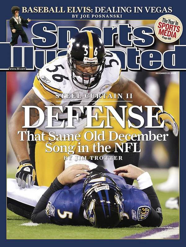 Releasing Art Print featuring the photograph Pittsburgh Steelers Lamarr Woodley... Sports Illustrated Cover by Sports Illustrated